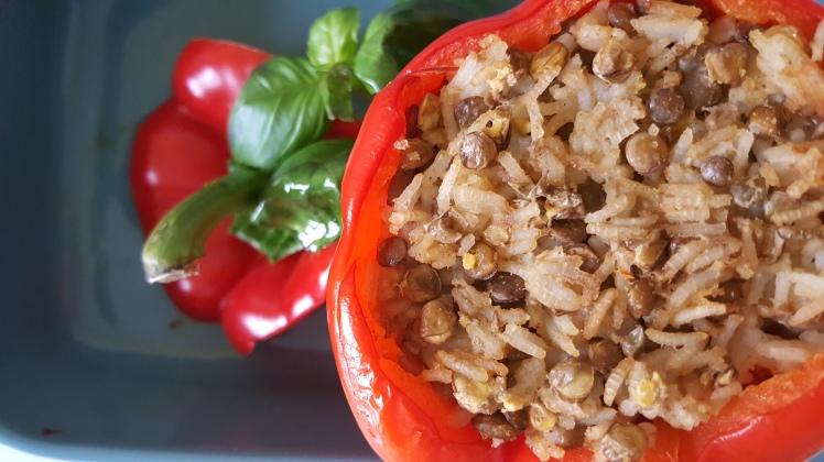 Papryka faszerowana ryżem