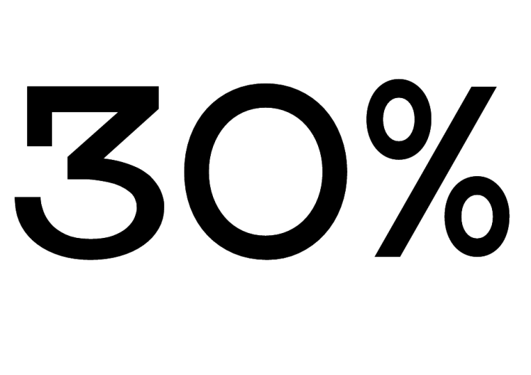 Geny 30 procent